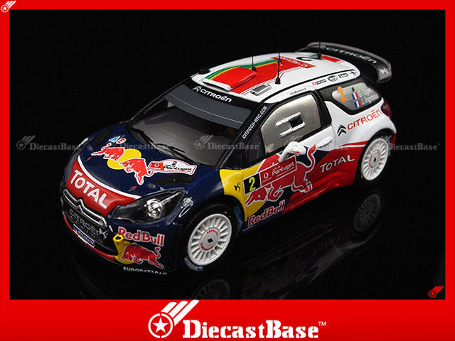 IXO RAM474 1/43 Citroen DS3 WRC No.2 Winner Rally Portugal 2011 J.Ingrassia - S.Ogier Red Bull IXO Models Diecast Model Rally Racing Car