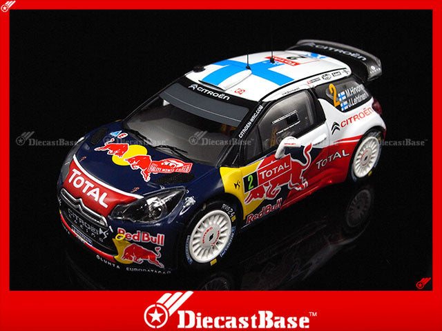 IXO RAM483 1/43 Citroen DS3 WRC No.2 Rally Monte Carlo 2012 J.Lehtinen - M.Hirvonen 1:43 Diecast Model Racing Car