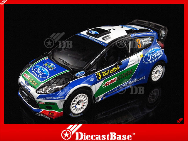 IXO RAM484 1/43 Ford Fiesta RS WRC No.3 Winner Rally Sweden 2012 J.M.Latvala - M.Antilla 1:43 Diecast Model Racing Car