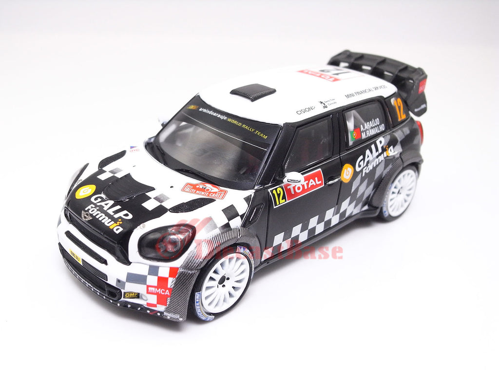 IXO RAM496 1/43 Mini John Cooper Works No.12 Rally Monte Carlo 2012 A.Araujo - M.Ramalho IXO Models Diecast Model Rally Racing Car