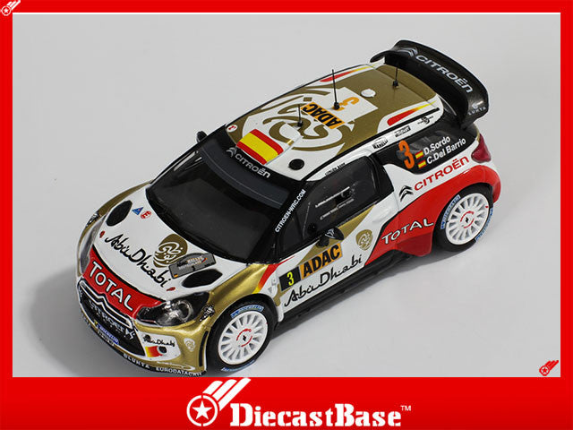 1/43 Citroen DS3 WRC IXO RAM538  ~ top view ~ taken by DiecastBase