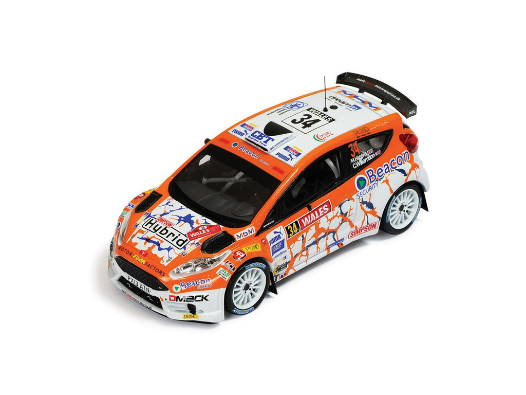 IXO RAM542 1/43 Ford Fiesta R5 #34 Wales Rally Great Britain 2013 Symtech Racing - Mark Higgins - Carl Williamson IXO Models Diecast Model Rally Racing Car