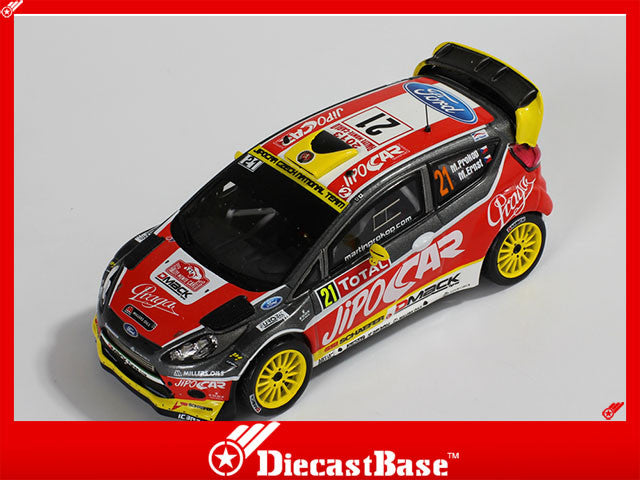 1/43 Ford Fiesta RS WRC IXO RAM545  ~ top view ~ taken by DiecastBase