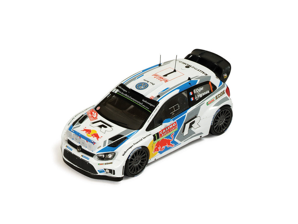 IXO RAM563 1/43 Volkswagen Polo R WRC #1 Winner Rallye Monte Carlo 2014 Volkswagen Motorsport - Sébastien Ogier - Julien Ingrassia (with night lights) IXO Models Diecast Model Rally Racing Car