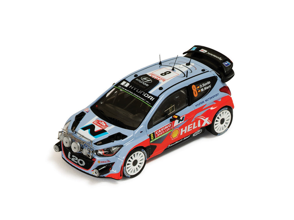 IXO RAM569 1/43 Hyundai i20 WRC #8 Rallye Monte Carlo 2014 Hyundai Motorsport - Dani Sordo - Marc Martí (with night lights) IXO Models Diecast Model Rally Racing Car