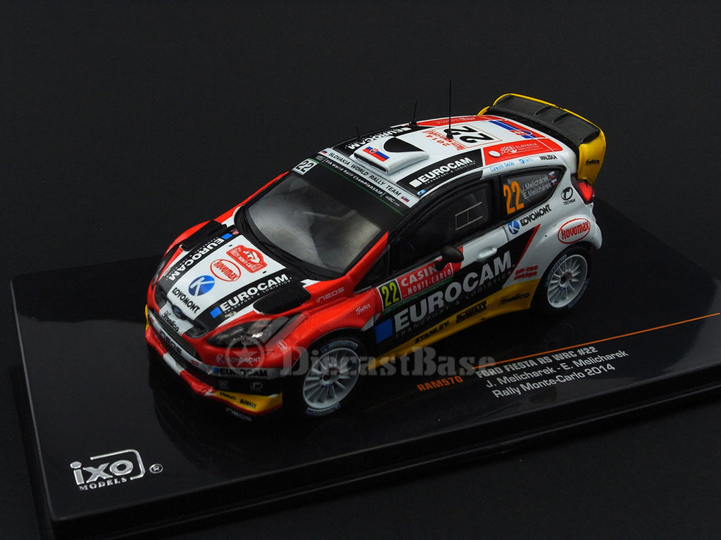 IXO RAM570 1/43 Ford Fiesta RS WRC #22 8th Rallye Monte Carlo WRC 2014 Slovakia World Rally Team - Jaroslav Melichárek - Erik Melichárek Diecast Model Racing Car