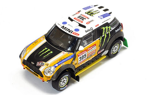 "IXO RAM573P 1/43 Mini All 4 Racing #305 2nd Dakar Rally 2012 Monster Energy X-Raid Team - Joan ""Nani"" Roma - Michel Périn Diecast Model Racing Car"