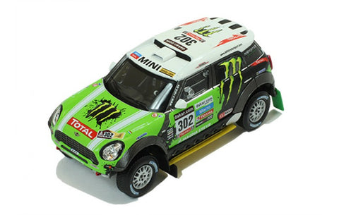IXO RAM574P 1/43 Mini All 4 Racing #302 Winner Dakar Rally 2013 Monster Energy X-Raid Team - Stéphane Peterhansel - Jean-Paul Cottret Diecast Model Racing Car
