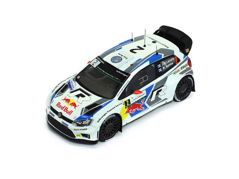 IXO RAM597 1/43 Volkswagen Polo R WRC #2 Jari-Matti Latvala & Miikka Anttila Winner Rallye de France 2014 VW Red Bull IXO Models Diecast Rally Racing Car