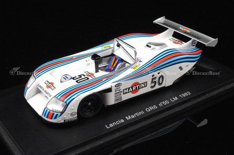 Spark S0661 1/43 Lancia LC1 No.50 24 Hours of Le Mans 1982 Gr.6 Class Martini Racing Team Riccardo Patrese - Hans Heyer - Piercarlo Ghinzani Resin Model LM Racing Car
