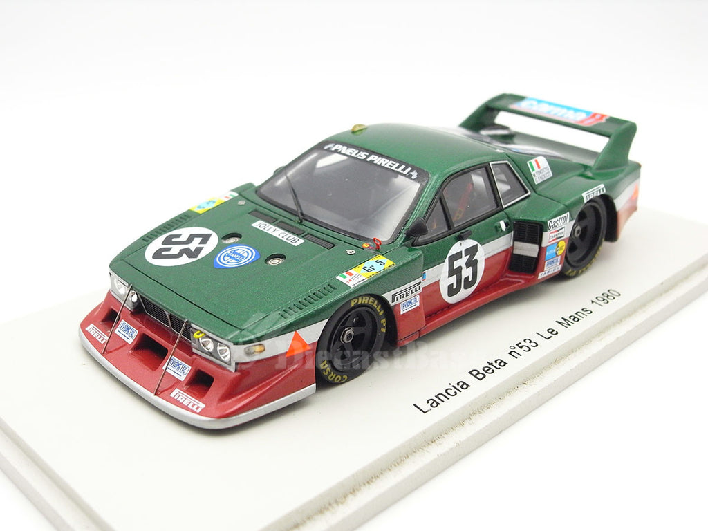 Spark S1381 1/43 Lancia Beta Monte Carlo No.53 24 Hours of Le Mans 1980 Gr.5 Class Jolly Club - Lancia Corse Team Carlo Facetti - Martino Finotto Resin Models LM Racing Car