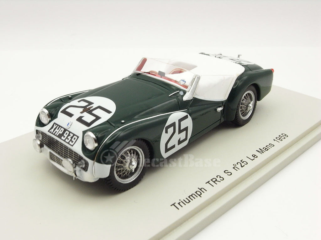Spark S1395 1/43 Triumph TR3 S #25 Standard Triumph Team Le Mans 1959 Peter Jopp - Richard Stoop Resin Model LM Racing Car