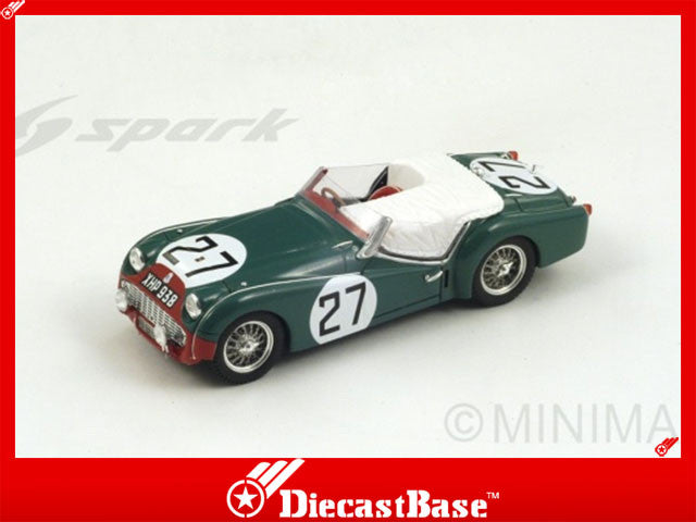 1/43 Triumph TR3 S Spark S1397  ~ top view ~ taken by DiecastBase