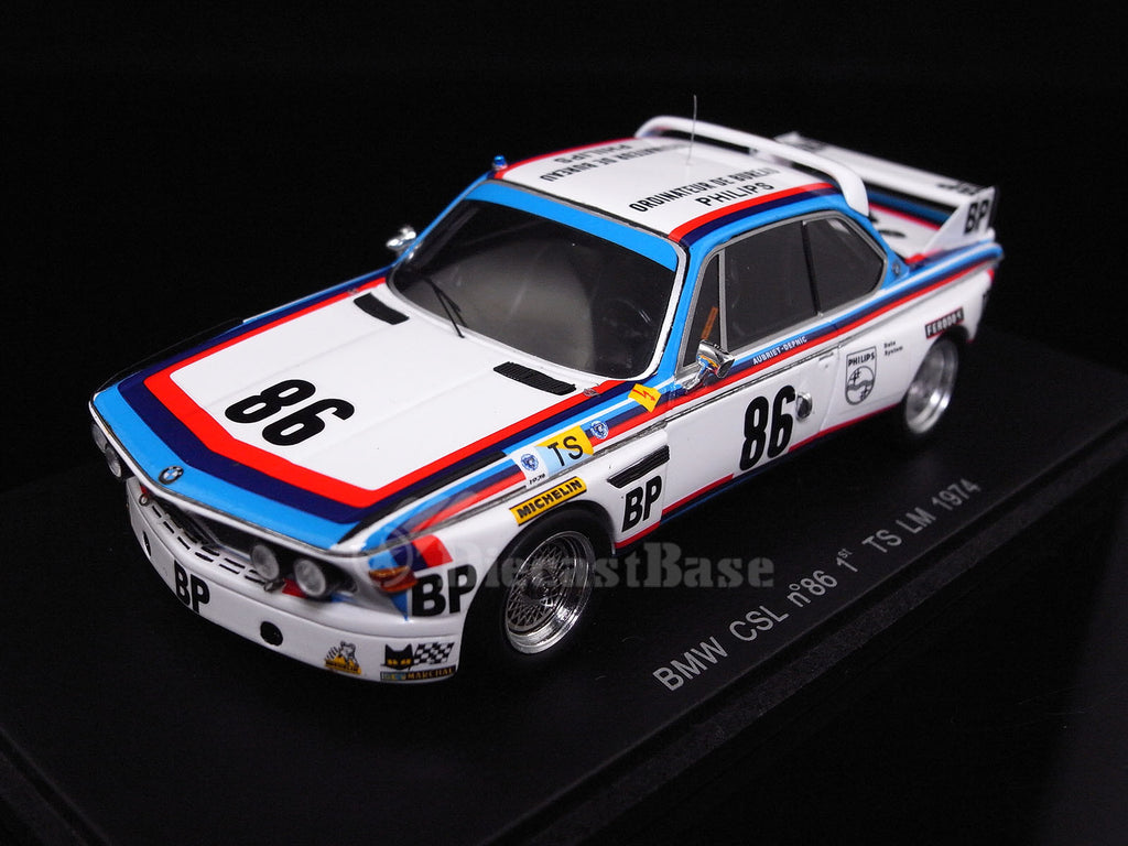 "Spark S1565 1/43 BMW 3.0 CSL No.86 24 Hours of Le Mans 1974 T Class Jean-Claude Aubriet - ""Depnic"" Spark Model Resin Model LM Racing Car"