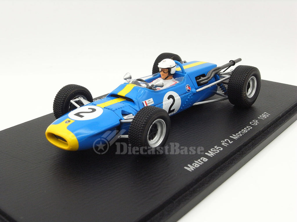 Spark S1595 1/43 Matra MS5 #2 Matra Sports Monaco Grand Prix 1967 Johnny Servoz-Gavin Spark Models Diecast Model F1 GP Racing Car