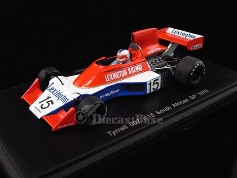 Spark S1733 1/43 Tyrrell 007 No.15 South African Grand Prix 1976 Lexington Racing Team Ian Scheckter Resin Model F1 GP Racing Car