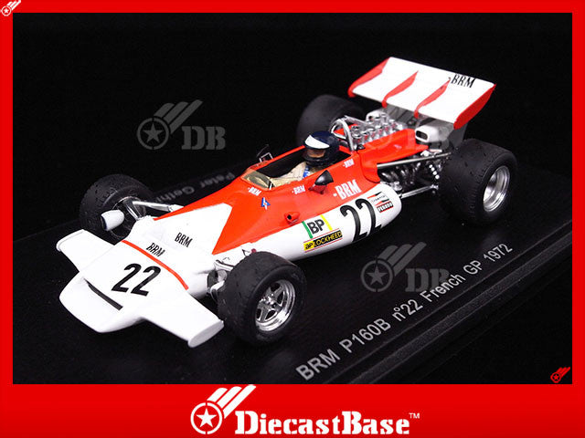 Spark S1744 1/43 BRM P160B No.22 French Grand Prix 1972 Peter Gethin Resin Model GP F1 Formula Racing Car