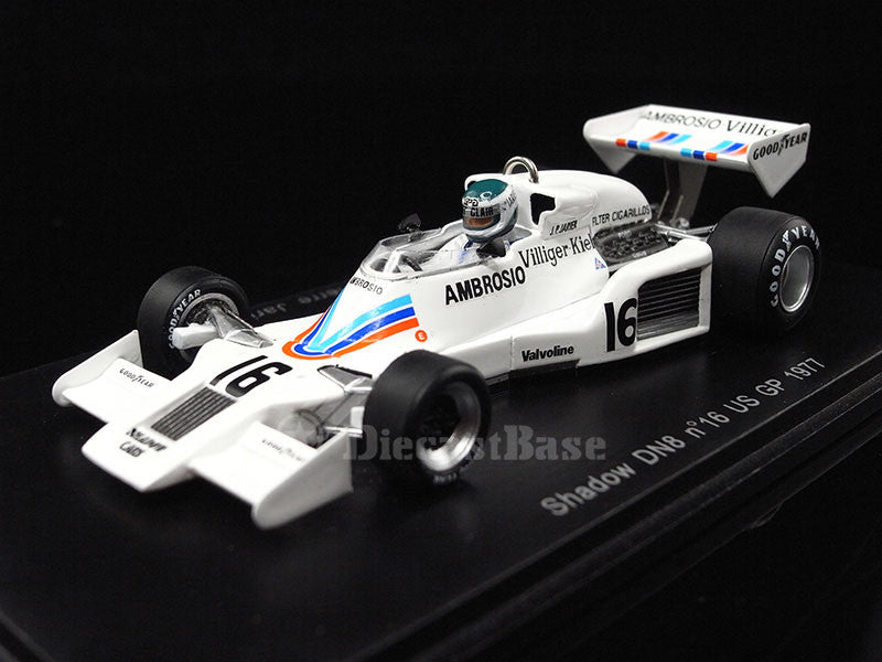 Spark S1757 1/43 Shadow DN8 No.16 United States Grand Prix 1977 Shadow-Ford Team Jean-Pierre Jarier Resin Model Formula One GP F1 Racing Car