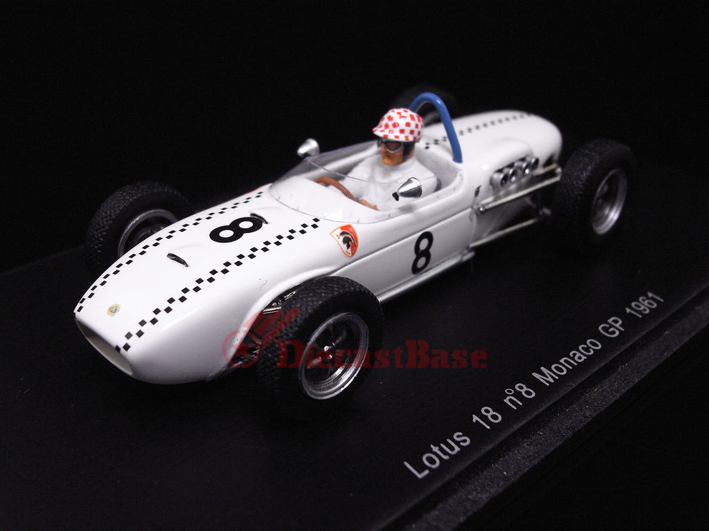 Spark S1828 1/43 Lotus 18 No.8 Monaco Grand Prix 1961 Lotus-Climax Team Michael May Spark Models Diecast Model F1 GP Racing Car