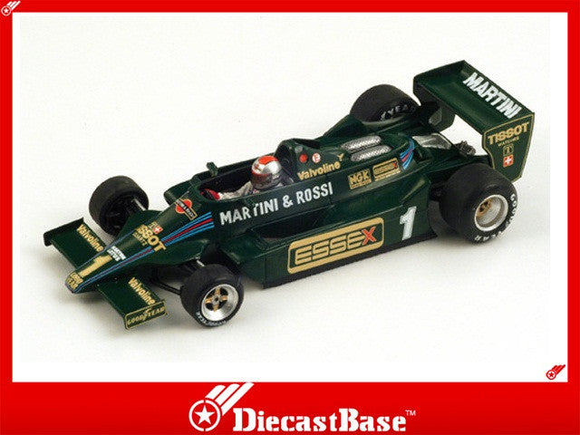Spark S1851 1/43 Team Lotus 79 No.1 4th Long Beach Grand Prix Formula 1 1979 Mario Andretti 1:43 Diecast Model GP F1 Racing Car