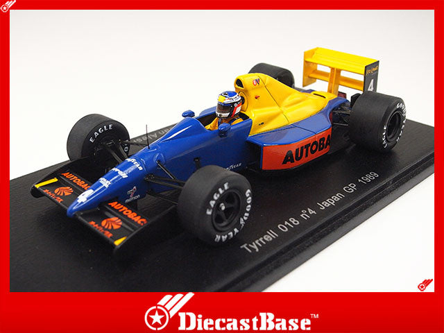 Spark S1880 1/43 Tyrrell 018 No.4 Japanese Grand Prix Formula 1 1989 Jean Alesi 1:43 Diecast Model GP F1 Racing Car