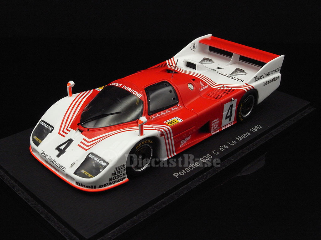 Spark S2002 1/43 Porsche 936 C #4 24 Hours of Le Mans 1982 C Class Belga Team Joest Racing Team Bob Wollek - Jean-Michel Martin - Philippe Martin Resin Model LM Racing Car