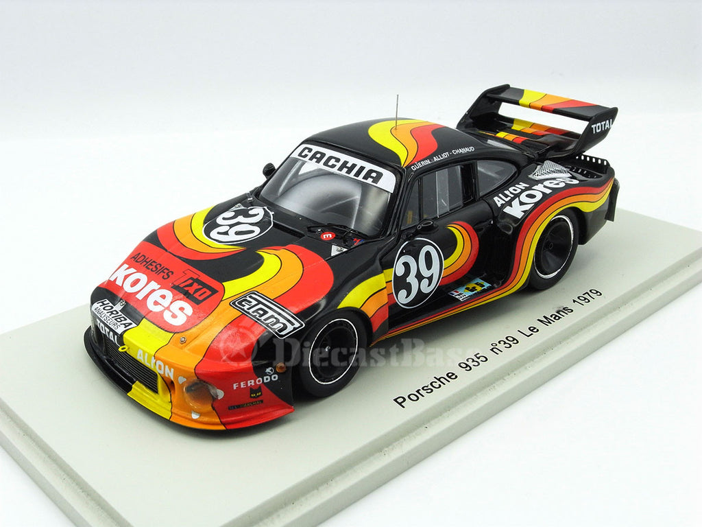 "Spark S2080 1/43 Porsche 935 #39 15th 24 Hours of Le Mans 1979 Gr.5 +2.0 Class ASA Cachia - Jacques Guérin - ""Chanaud"" - Frédéric Alliot Resin Model LM Racing Car"