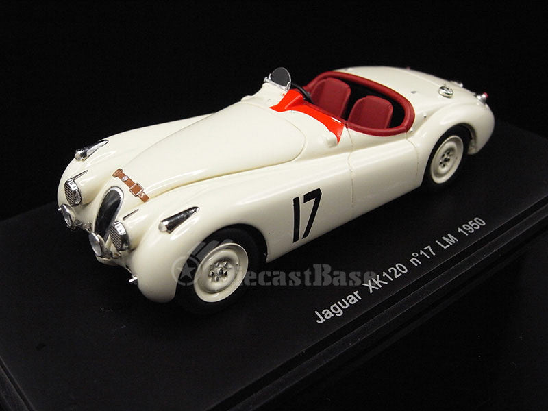 Spark S2117 1/43 Jaguar XK120S No.17 24 Hours of Le Mans 1950 Leslie Johnson Team Leslie Johnson - Bert Hadley Diecast Model LM Racing Car