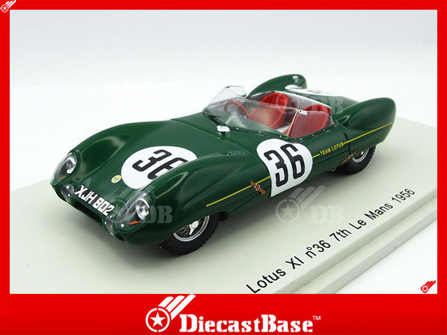 Spark S2188 1/43 Lotus XI #36 7th Le Mans 1956 Lotus Engineering Team - Reg Bicknell - Peter Jopp Spark Model Resin Model LM Racing Car