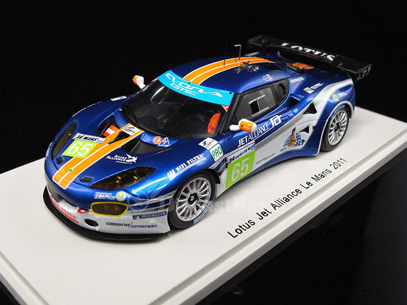 Spark S2209 1/43 Lotus Evora GTE No.65 24 Hours of Le Mans 2011 LMGTE Pro Class Lotus Jetalliance Team Jonathan Hirschi - Johnny Mowlem - James Rossiter 1:43 Diecast Model LM Racing Car
