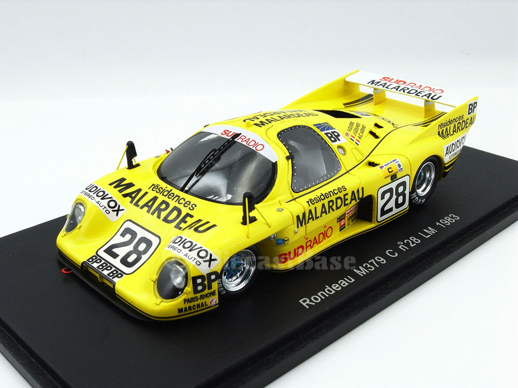 Spark S2269 1/43 Rondeau M379 C #28 24 Hours of Le Mans 1983 Jean Rondeau Team Vic Elford - Joël Gouhier - Anne-Charlotte Verney Resin Model LM Racing Car
