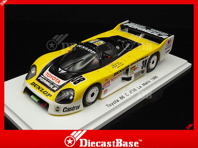 Spark S2353 1/43 Toyota 86 C #38 Toyota Team Le Mans 1986 Eje Elgh - Beppe Gabbiani - Toshio Suzuki Spark Models Diecast Model LM Racing Car