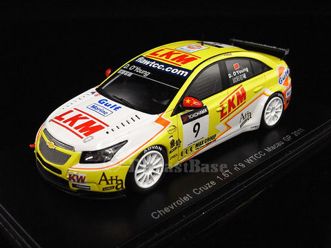 Spark S2450 1/43 Chevrolet Cruze 1.6T No.9 FIA World Touring Car Championship WTCC Macau Grand Prix 2011 Darryl O'Young Resin Model Racing Car