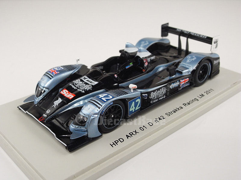 Spark S2535 1/43 HPD ARX-01d No.42 24 Hours of Le Mans 2011 LMP2 Class Strakka Racing Team Nick Leventis - Danny Watts - Jonny Kane Resin Models LM Racing Car