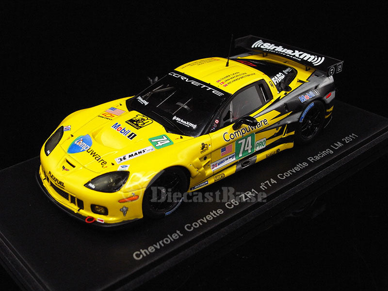 Spark S2542 1/43 Chevrolet Corvette C6 ZR1 No.74 24 Hours of Le Mans 2011 LMGTE Pro Class Corvette Racing Team Oliver Gavin - Richard Westbrook - Jan Magnussen Resin Model LM Racing Car