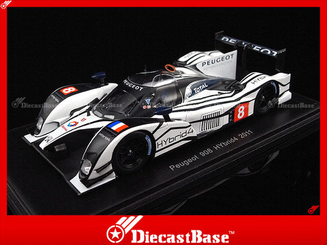 Spark S2591 1/43 Peugeot 908 HYbrid4 2011 1:43 Diecast Model Racing Car