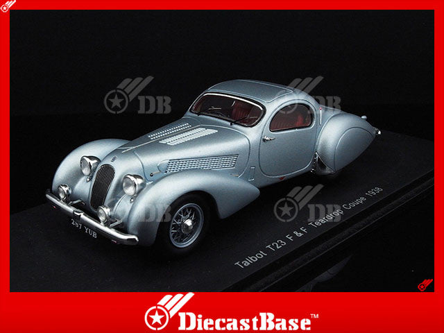 Spark S2721 1/43 Talbot T23 F & F Teardrop Coupe 1938 Spark Models Diecast Model Road Car