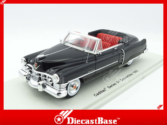 Spark S2922 1/43 Cadillac Series 61 Convertible 1950 Black Spark Models Diecast Model Road Car