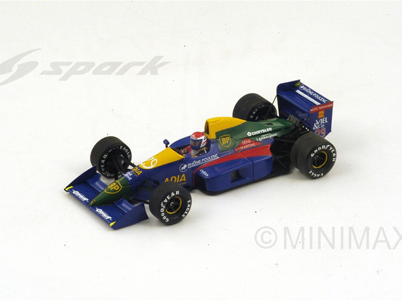 Spark S2976 1/43 Lola LC89 #29 French Grand Prix 1989 Lola-Lamborghini Team Eric Bernard Resin Models F1 GP Racing Car