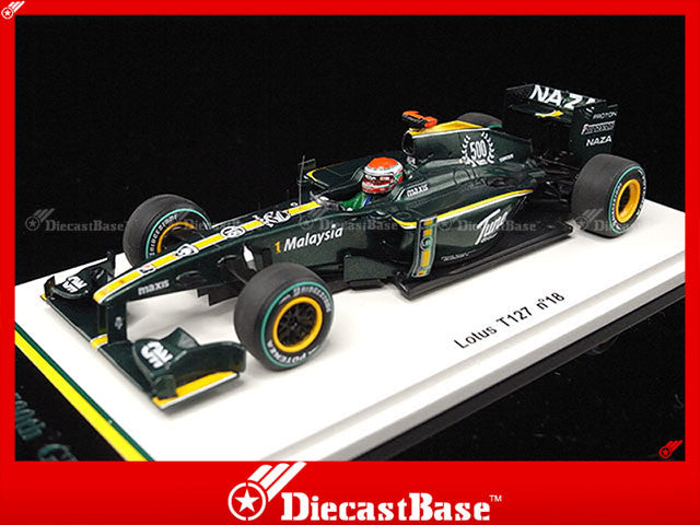 Spark S3010 1/43 Lotus T127 No.18 500th F1 GP Monaco Grand Prix Formula 1 1958 European GP 2010 - Jarno Trulli 1:43 Diecast Model GP F1 Racing Car