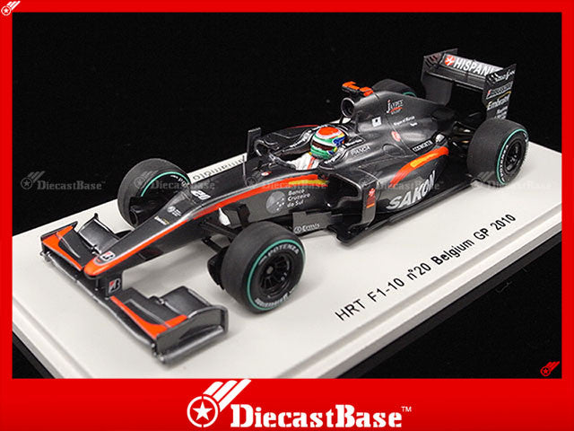 Spark S3011 1/43 HRT F1-10 No.20 Belgian Grand Prix Formula 1 2010 Sakon Yamamoto 1:43 Diecast Model GP F1 Racing Car
