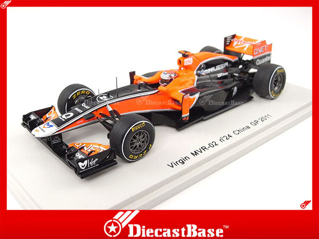 Spark S3014 1/43 Virgin MVR-02 No.24 Chinese Grand Prix Formula 1 2011 Timo Glock 1:43 Diecast Model GP F1 Racing Car