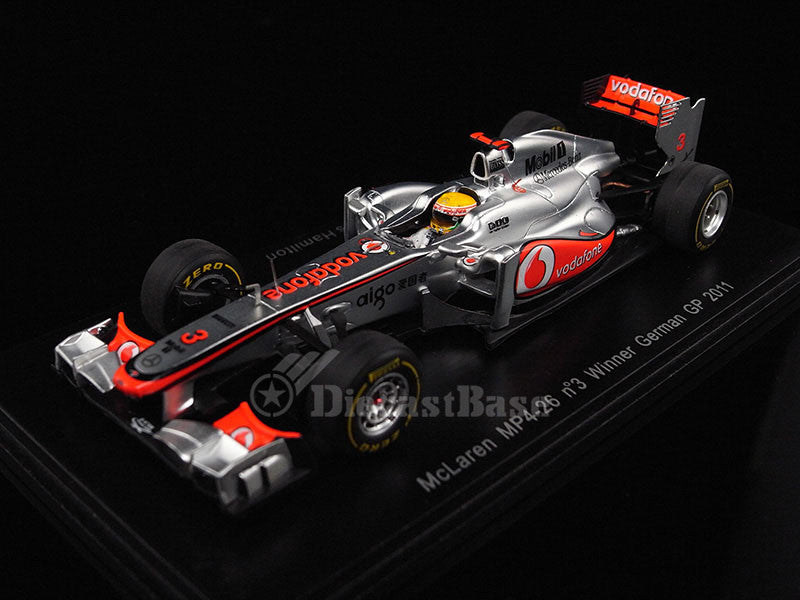 Spark S3030 1/43 McLaren MP4-26 No.3 Winner German Grand Prix 2011 McLaren-Mercedes Team Lewis Hamilton 1:43 Formula 1 Resin Model GP F1 Racing Car