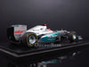 Spark S3042 1/43 Mercedes AMG W03 No.7 Monaco Grand Prix 2012 Mercedes Team Michael Schumacher Resin Model Formula One GP F1 Racing Car