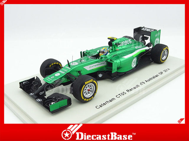 Spark S3077 1/43 Caterham CT05 #9 Australian Grand Prix 2014 Caterham F1 Team - Marcus Ericsson Resin Model Racing Car