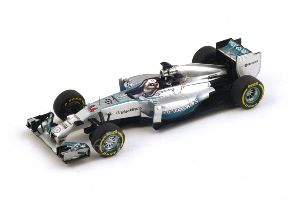1/43 Mercedes F1 W05 Hybrid Spark S3088  ~ top view ~ taken by DiecastBase