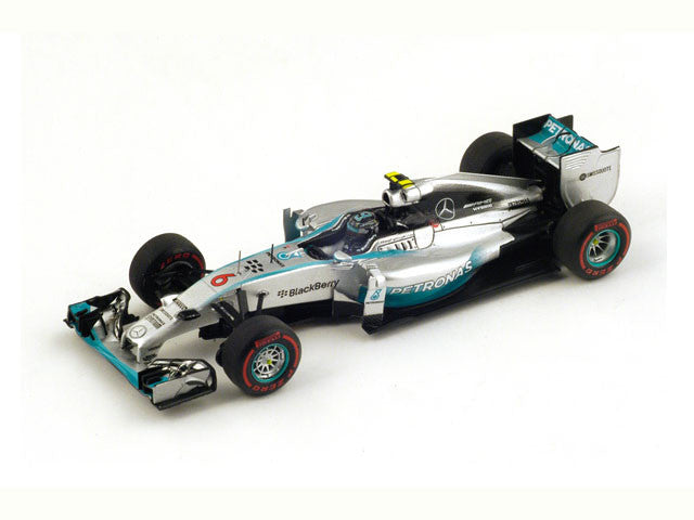 1/43 Mercedes F1 W05 Hybrid Spark S3092  ~ top view ~ taken by DiecastBase