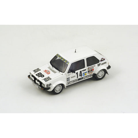 Spark S3210 1/43 Volkswagen Golf Mk1 #14 Rallye Monte Carlo 1980 BP Racing Volkswagen Sport - Jean-Luc Therier - Michel Vial Resin Model Racing Car