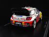 Spark S3324 1/43 Citroen DS3 WRC No.2 Winner French Rally Alsace 2011 S.Ogier - J.Ingrassia Credit Mutuel Resin Models Racing Car