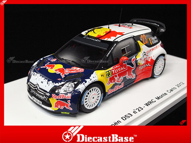 Spark S3328 1/43 Citroen DS3 No.23 WRC Monte Carlo Rally 2012 T.Neuville - N.Gilsoul 1:43 Diecast Model Racing Car
